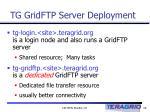 tg gridftp server deployment