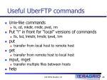 useful uberftp commands