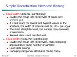 simple discretization methods binning