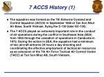 7 accs history 1