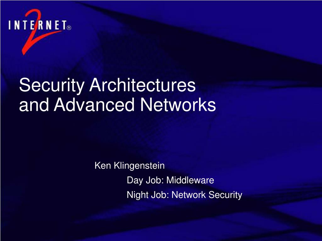 ken klingenstein day job middleware night job network security l.