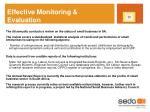 effective monitoring evaluation
