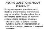 asking questions about disability35