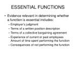 essential functions14