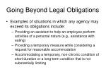 going beyond legal obligations29