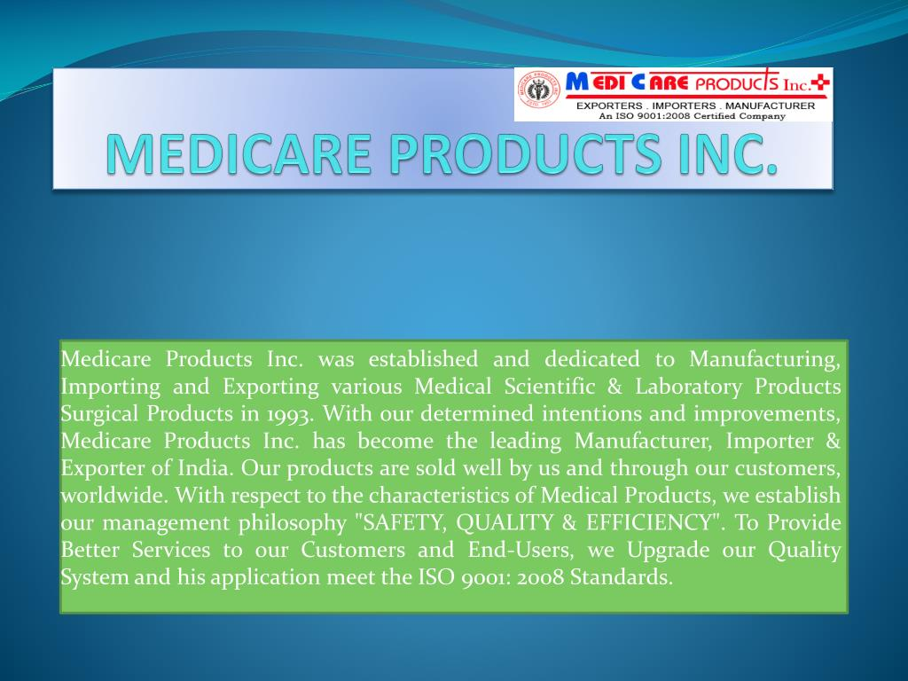 medicare products inc l.
