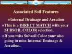 associated soil features