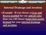 internal drainage and aeration