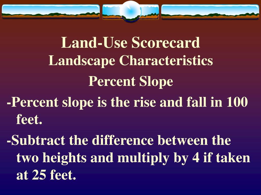 land use scorecard l.
