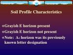 soil profile characteristics9