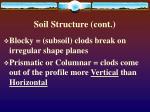 soil structure cont