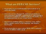 what are ei ecse services