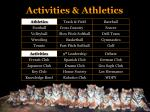 activities athletics