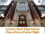 lewis clark high school class of 2014 parent night