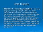 data display
