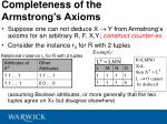 completeness of the armstrong s axioms40