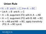 union rule