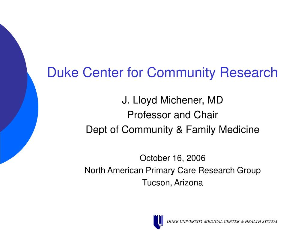 duke center for community research l.