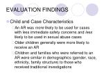 evaluation findings24