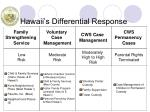 hawaii s differential response