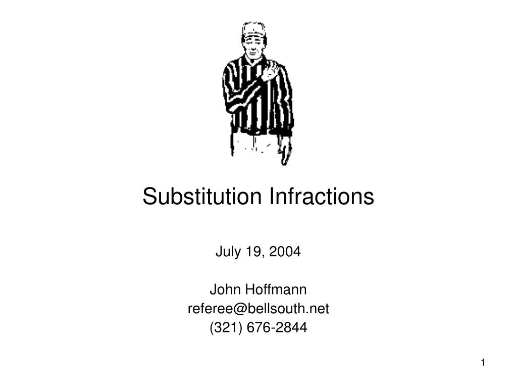 substitution infractions l.