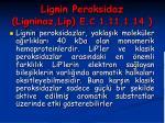 lignin peroksidaz ligninaz lip e c 1 11 1 1435