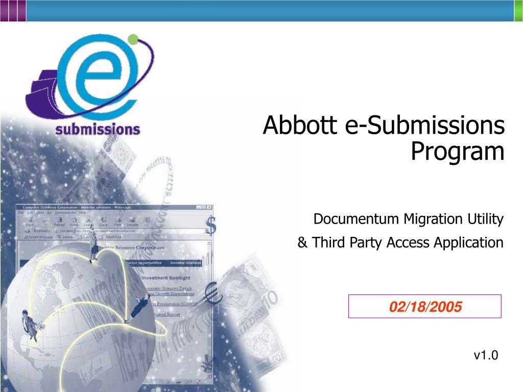 abbott e submissions program l.