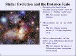 stellar evolution and the distance scale