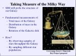 taking measure of the milky way