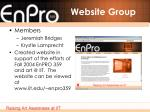website group