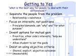 getting to yes what is the best way for people to deal with their differences