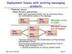 deployment issues with existing messaging products