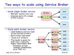 two ways to scale using service broker
