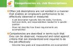 competencies vs job descriptions