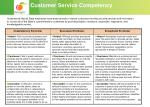 customer service competency