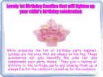 lovely 1st birthday candles that will lighten up your child s birthday celebration