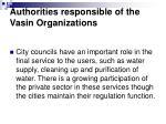 authorities responsible of the vasin organizations14