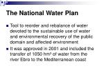 the national water plan