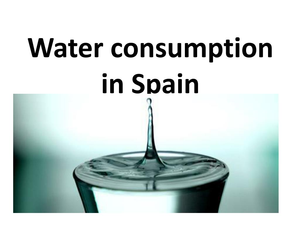 water consumption in spain l.