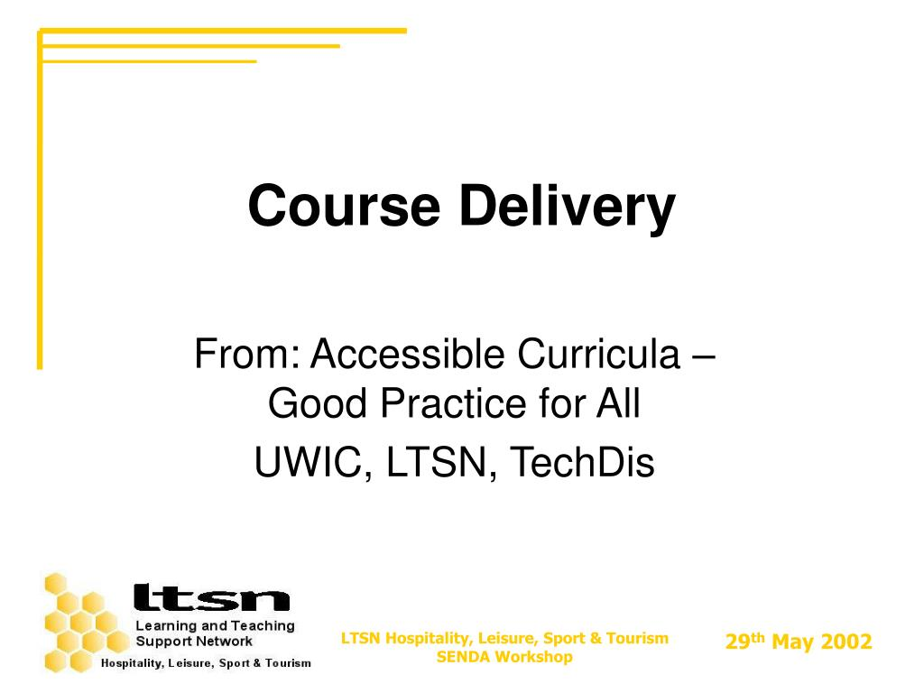 course delivery l.