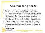 understanding needs