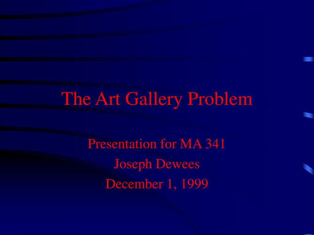 the art gallery problem l.