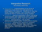 interpretive research meaning making