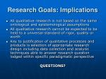 research goals implications