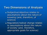 two dimensions of analysis