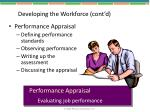 developing the workforce cont d