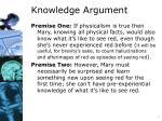 knowledge argument