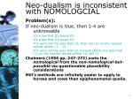 neo dualism is inconsistent with nomologcial15