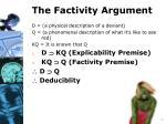 the factivity argument