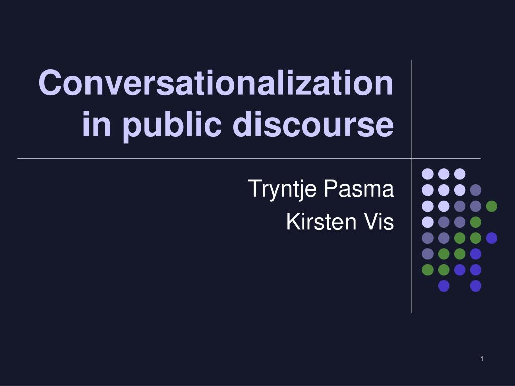 conversationalization in public discourse l.